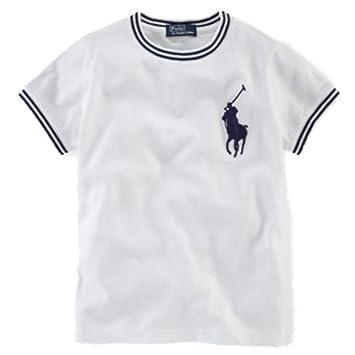 Ralph Lauren Niños Camiseta de Big Pony Polo Jinete Blanco Polo ...