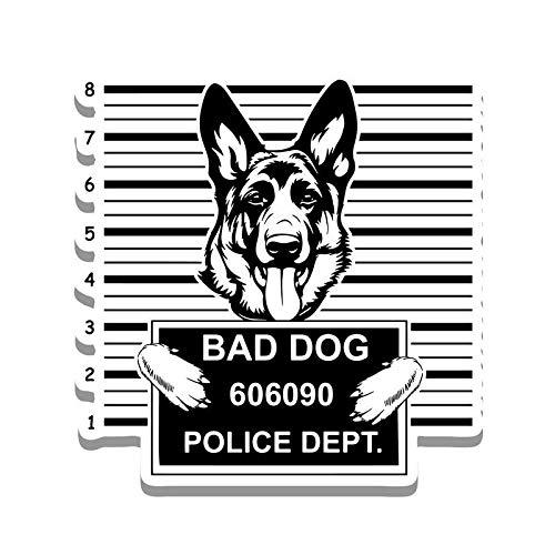 Sticker Shepherd Dog (More Shiz Bad Dog German Shepherd Jail Funny Cute Vinyl Decal Sticker - Car Truck Van SUV Window Wall Cup Laptop - One 5.25 Inch Decal - MKS0869)