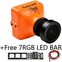 RunCam Eagle 800TVL FPV Camera 4:3 Mini for Racing Drone DC 5-17V FOV 140 Degree(Orange) Global WDR Aluminium Case For Drone Quad-copter With 1 PCS RGB LED BAR
