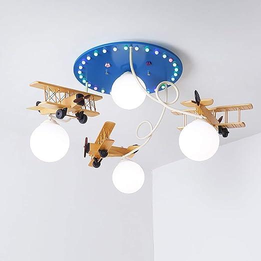 Iluminación de techo de interior Nordic aviones lámpara de techo para niños 4 fuente de luz