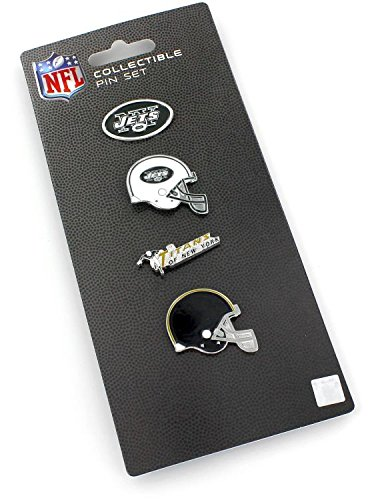 aminco NFL New York Jets Logo Evolution 4 Pin Set ()