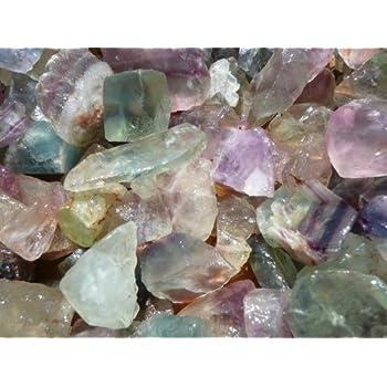 Fantasia Materials: 1 lb Rainbow Fluorite Rough Stones from China