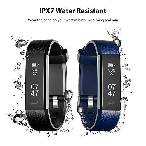 Wesoo K1 Fitness Watch : Activity Tracker Smart Band with Sleep Monitor, Smart Bracelet Pedometer Wristband with Replacement Band for iOS & Android