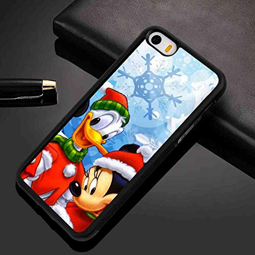DISNEY COLLECTION Case Compatible for iPhone 5S (2013) & iPhone 5 (2012) & iPhone SE (2016) [5.5in] Miki Mouse Snowflake Winter Xmas
