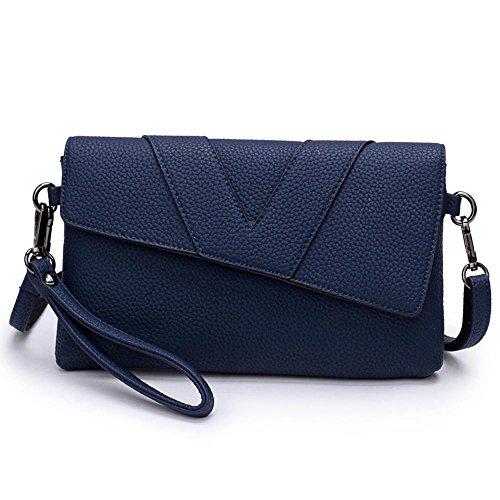 Aoligei Fille de fashion bag lady main main sac simple centaines enveloppe magnétique boucle d'épaule unique de poignet diagonale E