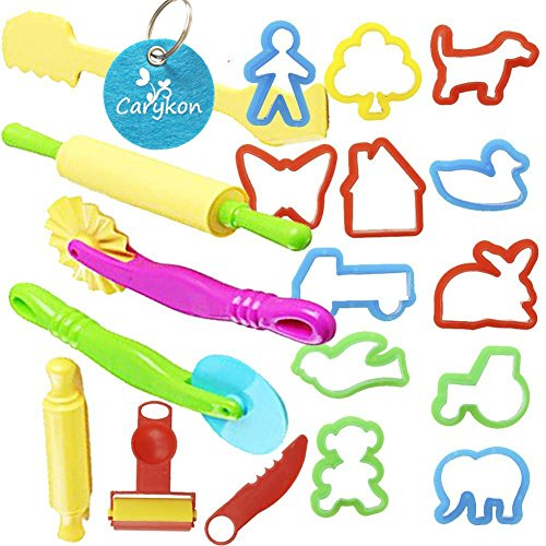 Carykon Smart Dough Tools Kit with Models and Molds, Set of 20 PCS, Trees and Animals