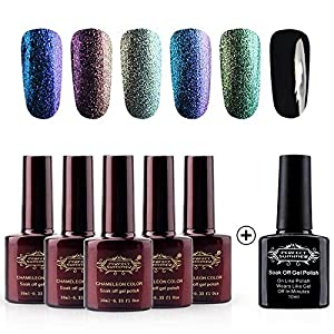 Perfect Summer Gel Nail Polish Chameleon Colors Changes UV LED Soak Off Nail Lacquers-Pack of 6, 10ml Each (Set #01)