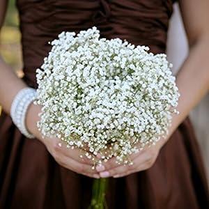TiaoBug Baby Breath/Gypsophila Wedding Decoration White Colour Artificial Flowers,12 pieces 3