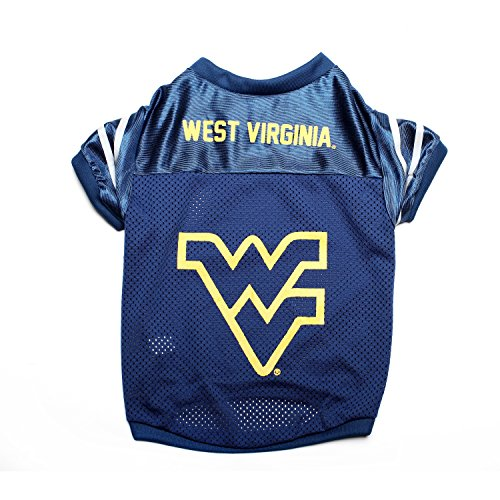 Pet Goods NCAA West Virginia Mountaineers Collegiate Pet Jersey, Large (Stores In West Virginia)
