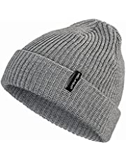 Fisherman Beanie Hats for Men and Women, Beanie Daily Winter Thermal Hats Cuffed Knit Warm Skull Cap, Gifts for Dad Mom
