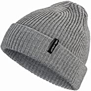 Fisherman Beanie Hats for Men and Women, Beanie Daily Winter Thermal Hats Cuffed Knit Warm Skull Cap, Gifts fo