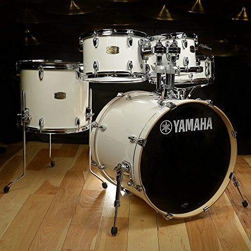 Rack Tom Birch Shell - Yamaha Stage Custom Birth 5-Piece Drum Kit, Pure White – Legendary Recording Custom Drum Set Design with YESS Mounting System