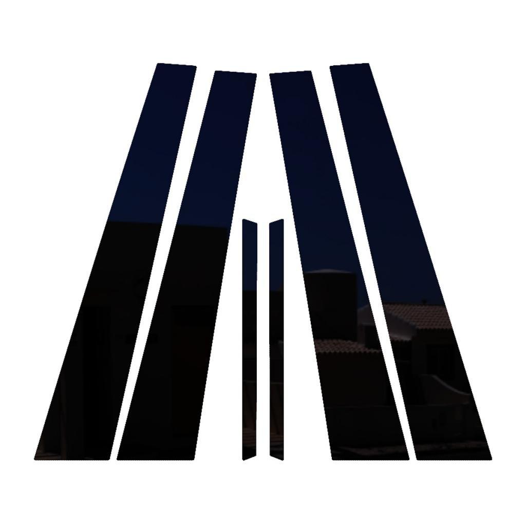 2004-2008 Pontiac Grand Prix All Models PIL-139-GB Ferreus Industries Piano Black Pillar Post Trim Cover fits
