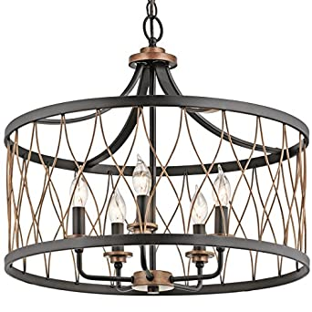 cottage pendant lighting. Wonderful Pendant Kichler Brookglen 2047in Black With Gold Tone Country Cottage Single Cage  Pendant On Lighting H