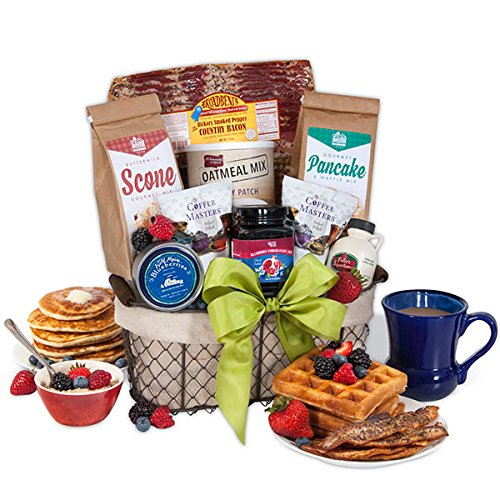 New England Breakfast Gift Basket Deluxe by GourmetGiftBaskets.com