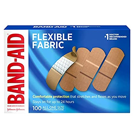 Johnson & Johnson Band-Aid Brand Flexible Fabric...