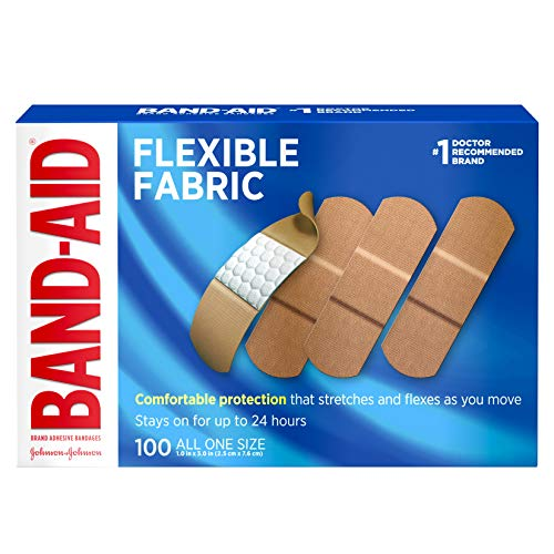 Band-Aid Brand Flexible Fabric Adhesive Bandages for Wound Care and First Aid, All One Size, 100 ct ()