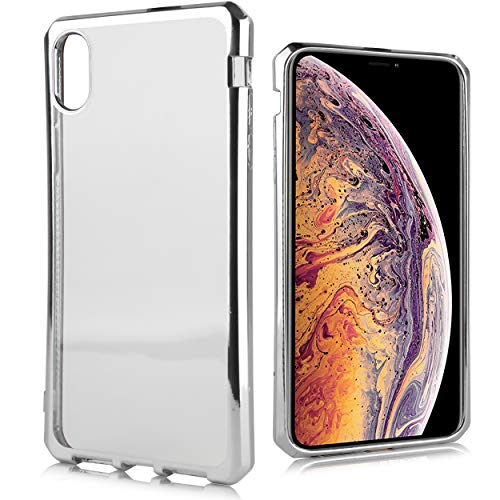 - Compatible fit Apple iPhone Xs Max [2018 Release] Cute Air Cushion Shockproof Slim Faux Chrome TPU Clear Flex Defense Case for iPhone Xs MAX 6.5