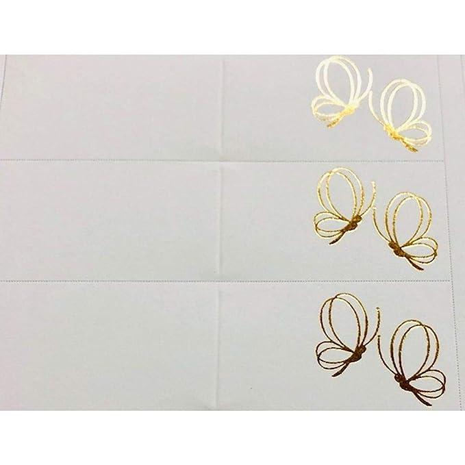 100Pz Notas Tarjeta Detalle Bodas de Oro con Mariposas Oro: Amazon ...
