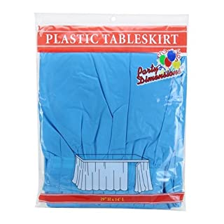 Party Dimensions Single Count Plastic Table Skirt, 29 by 14-Feet, Island Blue (B00LGCK2NG) | Amazon price tracker / tracking, Amazon price history charts, Amazon price watches, Amazon price drop alerts