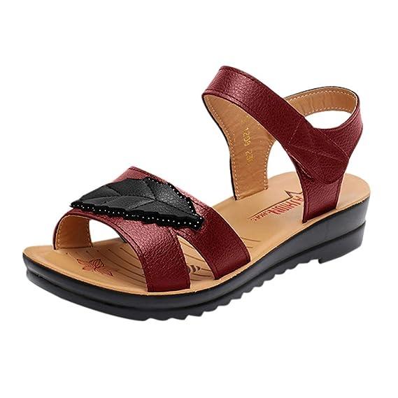 Women Leather Knot Sandals,Ladies