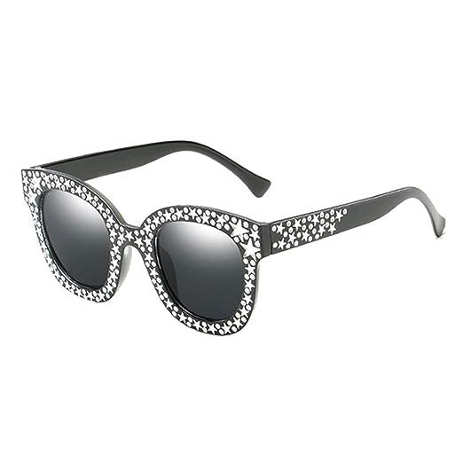 Da.Wa Imitación Diamante Gafas de Sol Negro Estilo de Lente ...