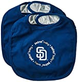 Baby Fanatic Team Color Bibs, SD Padres, 2-Count