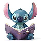 Disney Traditions by Jim Shore 'Lilo and Stitch' Stitch with a Storybook Stone Resin Figurine, 5.75'