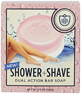 Van Der Hagen Ladies Dual Action Shower and Shave Bar Soap, 5 Ounce (Pack of 2)