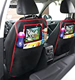Kick Mat Car Seat Protector & Back Seat Organizer with Tablet Holder for Kids, Babies and Toddlers, Storage Pockets and Premium Quality