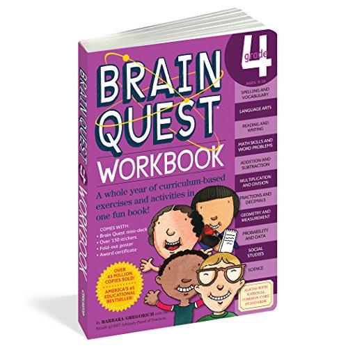Brain Quest Workbook: Grade 4 (4th Grade Curriculum)
