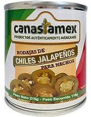 CHILES JALAPEÑOS EN RODAJAS 215g - CANASTAMEX
