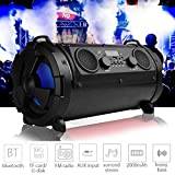 15W LCD Wireless Bluetooth Speaker Stereo Super Bass Subwoofer FM AUX TF(Color:Black)