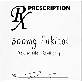 Funny Napkins – FUKITOL RX – Boutique Cocktail Napkins, 5″X5″, Pack Of 20 Party Napkins