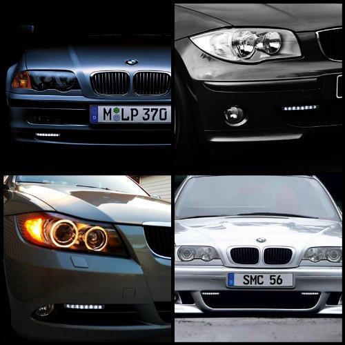 2010 Chevy Camaro Projector Headlights With Halo Rims   8