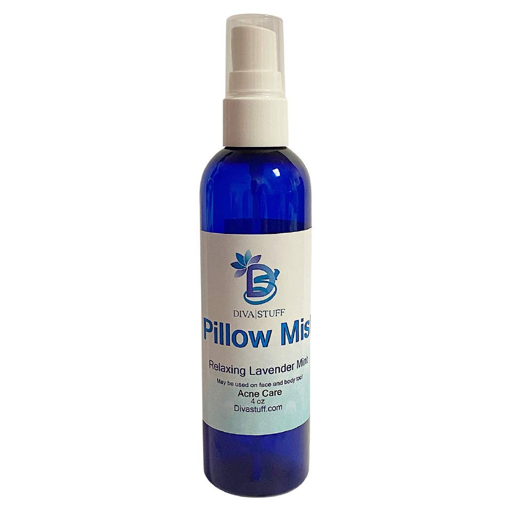 Pillow Mist (Lavender) - Promotes Clear Skin & Protects from Acne-Causing Funk, Cleans Pillows, Pillowcases, Beddings, and Sheets, 4 fl oz