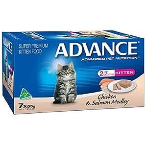 Advance Kitten Chicken and Salmon Meadley Food, 7 Piece