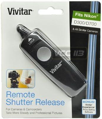 D300S Vivitar Wired Remote Shutter Release for Nikon D3S//D3X D700 DSLR Cameras