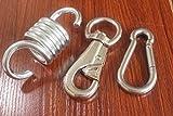 MHMYDZ Hammock Chair Spring Swivel Kit Hammock