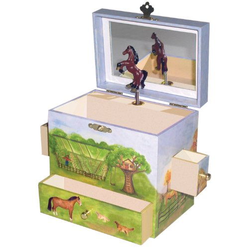 Horse gifts for kids amazon enchantmints horse ranch music jewelry box negle Gallery