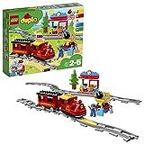 LEGO 10874 Duplo My Town Steam Train Toy, Colour-Coded Railway Set for Preschool Kids 2-5