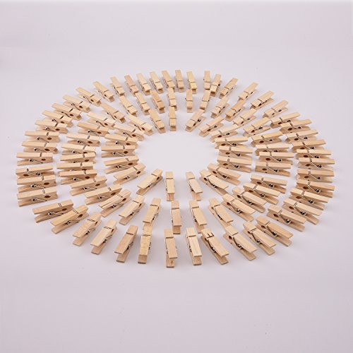 Sunmns 320 Feet Jute Twine and 100 Pieces Mini Natural Wooden Craft Clothespins Craft Pegs Clips Photo #5