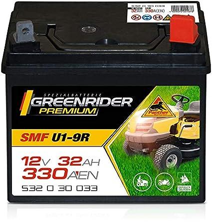 Tractor cortacésped con batería premium 12 V 32 Ah: Amazon ...