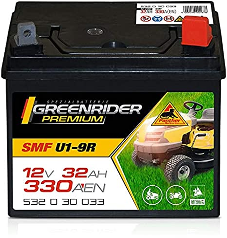 Tractor cortacésped con batería premium 12 V 32 Ah: Amazon.es ...