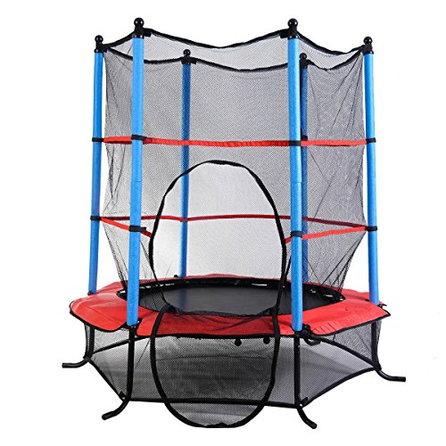 "Marketworldcup- Youth Jumping Round Trampoline 55"" Exercise W/ Safety Pad Enclosure Combo Kids US Stocks & Warranty! Best Quality !Fastest Shipping ! by Marketworldcup (Image #3)"