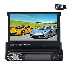 HD Waterproof Reversing Camera 7'' 1 single din Car DVD Player GPS Navigation Digital Touchscreen Car Stereo Radio Bluetooth FM AM Audio iPod+GPS Antenna+Frame …