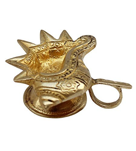 ITOS365 Brass Diyas Pooja - Deepak Puja Aarti - Oil Lamp - Pooja Articles Home Décor Item - Showpieces - House Warming Decoration - Religious Diwali Gifts by ITOS365