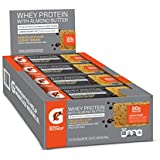 Gatorade Whey Protein With Almond Butter Bars, Chocolate Chip Cookie Dough,  2.0 ounce bars (Pack of 12), 20g of protein per bar
