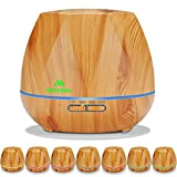 #6: Miserwe Essential Oil Diffuser 550ML Aromatherapy Diffuser with Adjustable Mist Mode and 4 Timer Setting Oil Diffuser Waterless Auto Shut-off with 7 LED light for Home Office Yoga Spa