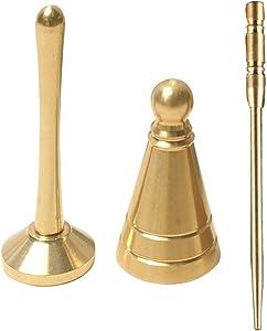 sleeri 3PCs/Set Backflow Incense Cone Making Tool, Cone Incense Mold, Incense Press, Brass Needle - DIY Backflow Incense Cone Making Kit, Backflow Incense Cone Mold/Mould, DIY Tower Incense